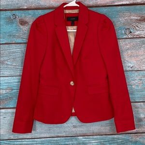 J Crew Red Blazer Jacket Size 0